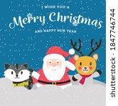 vector merry christmas xmas and ... | Shutterstock .eps vector #1847746744
