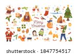 collection of christmas symbols ... | Shutterstock .eps vector #1847754517
