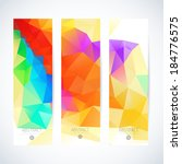 vertical banner vector set  | Shutterstock .eps vector #184776575