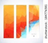 vertical banner vector set  | Shutterstock .eps vector #184776581