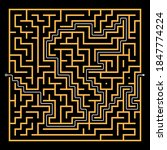 maze. square labyrinth game....   Shutterstock .eps vector #1847774224