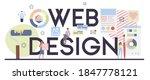 web design typographic header....