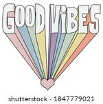 vintage good vibes slogan... | Shutterstock .eps vector #1847779021