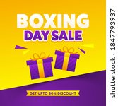 up to 80  off for boxing day... | Shutterstock .eps vector #1847793937