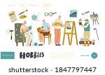 senior male female characters...   Shutterstock .eps vector #1847797447