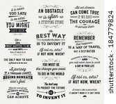 set of quotes typographical... | Shutterstock .eps vector #184779824