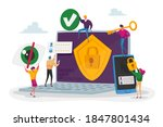 privacy data protection in... | Shutterstock .eps vector #1847801434