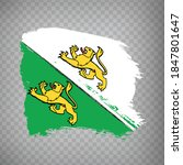 flag canton of thurgau brush...