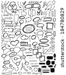 set of hand drawn elements for... | Shutterstock .eps vector #184780829