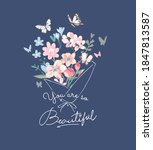 beautiful slogan with colorful... | Shutterstock .eps vector #1847813587