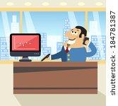 business life happy boss in... | Shutterstock .eps vector #184781387