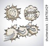 pop art design over gray... | Shutterstock .eps vector #184781429