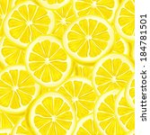 seamless riped juicy sliced... | Shutterstock .eps vector #184781501