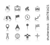 navigation icons set of globe... | Shutterstock .eps vector #184781621