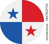 Vector   Panama Flag Button Icon