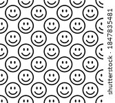 seamless pattern with happy and ... | Shutterstock .eps vector #1847835481