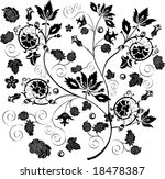 illustration with black and... | Shutterstock . vector #18478387