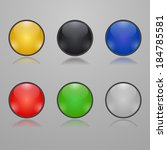 colorful glass buttons | Shutterstock .eps vector #184785581
