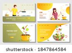 set of web pages for food blog  ... | Shutterstock .eps vector #1847864584