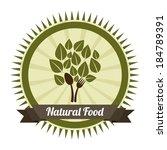 organic food design over gray... | Shutterstock .eps vector #184789391