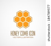 Honey Comb Icon. Vector...