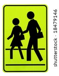 road sign. pedestrians. | Shutterstock . vector #18479146