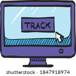 tracking monitor icon in color...   Shutterstock .eps vector #1847918974