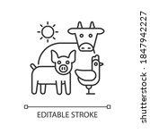 animal husbandry linear icon.... | Shutterstock .eps vector #1847942227