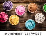 selection of gourmet flavours... | Shutterstock . vector #184794389