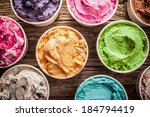 array of different flavored... | Shutterstock . vector #184794419