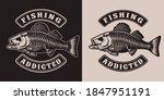 Fishing Vintage Monochrome...