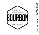 original bourbon vintage sign... | Shutterstock .eps vector #1847969107