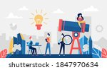 look for success business idea... | Shutterstock .eps vector #1847970634