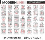 eco energy complex line icons... | Shutterstock .eps vector #1847971324