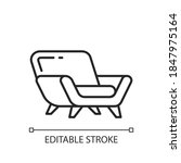 comfy armchair linear icon....   Shutterstock .eps vector #1847975164