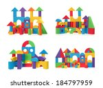 the toy castle from color... | Shutterstock . vector #184797959