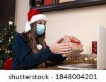 christmas online greetings.... | Shutterstock . vector #1848004201