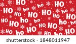 slogan  saying ho ho ho  merry... | Shutterstock .eps vector #1848011947