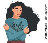 young woman depressed. concept... | Shutterstock .eps vector #1848021094