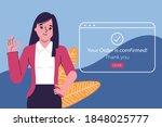 order confirmed concept. mobile ... | Shutterstock .eps vector #1848025777