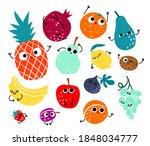 vector set of hand drawn...   Shutterstock .eps vector #1848034777