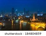 wat arun temple in bangkok.... | Shutterstock . vector #184804859