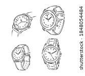 men's mechanical watch isolated ...   Shutterstock .eps vector #1848054484
