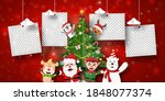 christmas postcard banner of... | Shutterstock .eps vector #1848077374