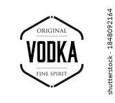 original vodka spirit sign... | Shutterstock .eps vector #1848092164