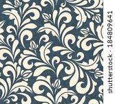seamless background in damascus ... | Shutterstock .eps vector #184809641