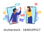 customers sharing references...   Shutterstock .eps vector #1848109417