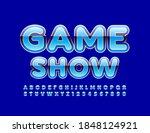 vector modern emblem game show. ... | Shutterstock .eps vector #1848124921