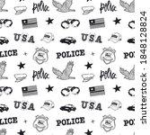 black and white seamless... | Shutterstock .eps vector #1848128824