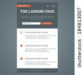 landing page in flat style with ... | Shutterstock .eps vector #184813007